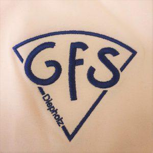 Aufgesticktes Logo